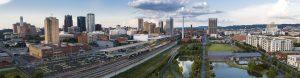 Aerial of Downtown Birmingham, AL