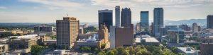 Aerial of Birmingham, AL